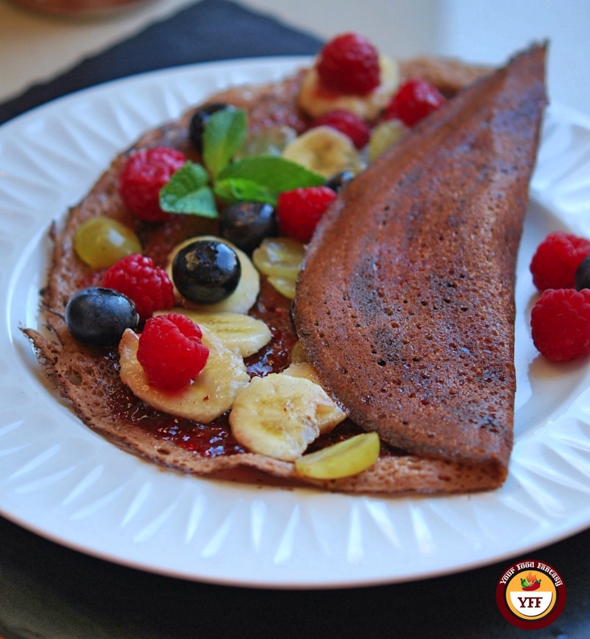 Fruity Chocolate Dosa Crepes Recipe | Your Food Fantasy