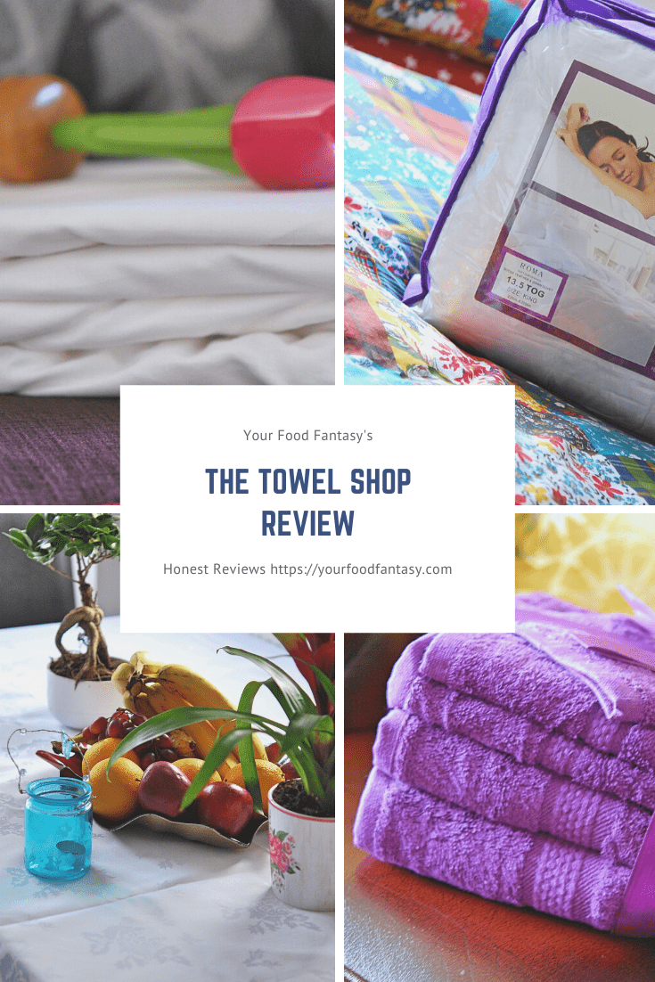 The Towel Shop Review | Get your products reviewed by Your Food Fantasy for fair reviews