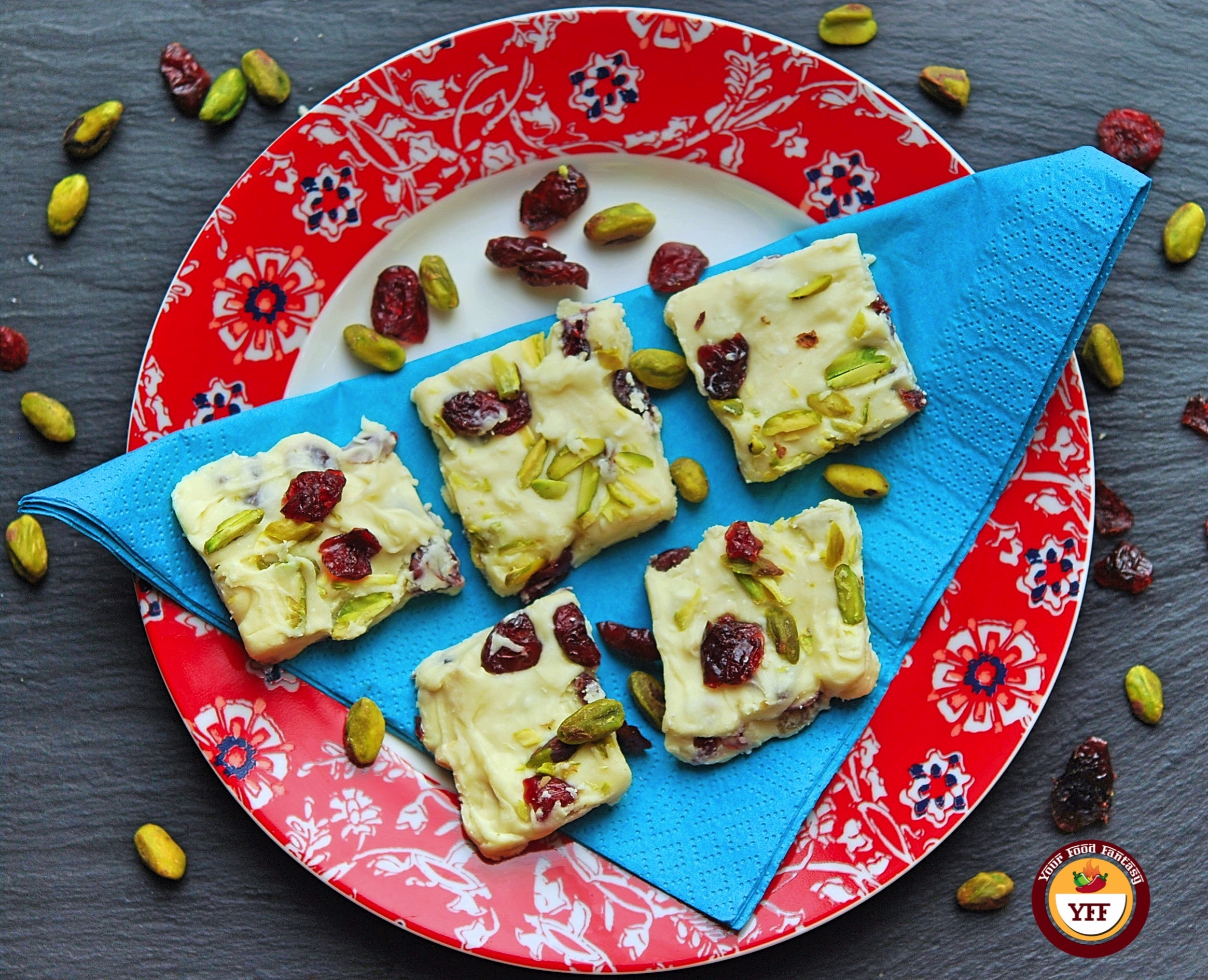 White Chocolate Cranberry Fudge Recipe | Your Food Fantasy