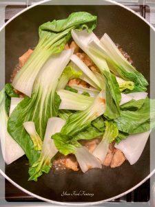 Adding Bok Choy   Chicken Teriyaki Recipe   Your Food Fantasy