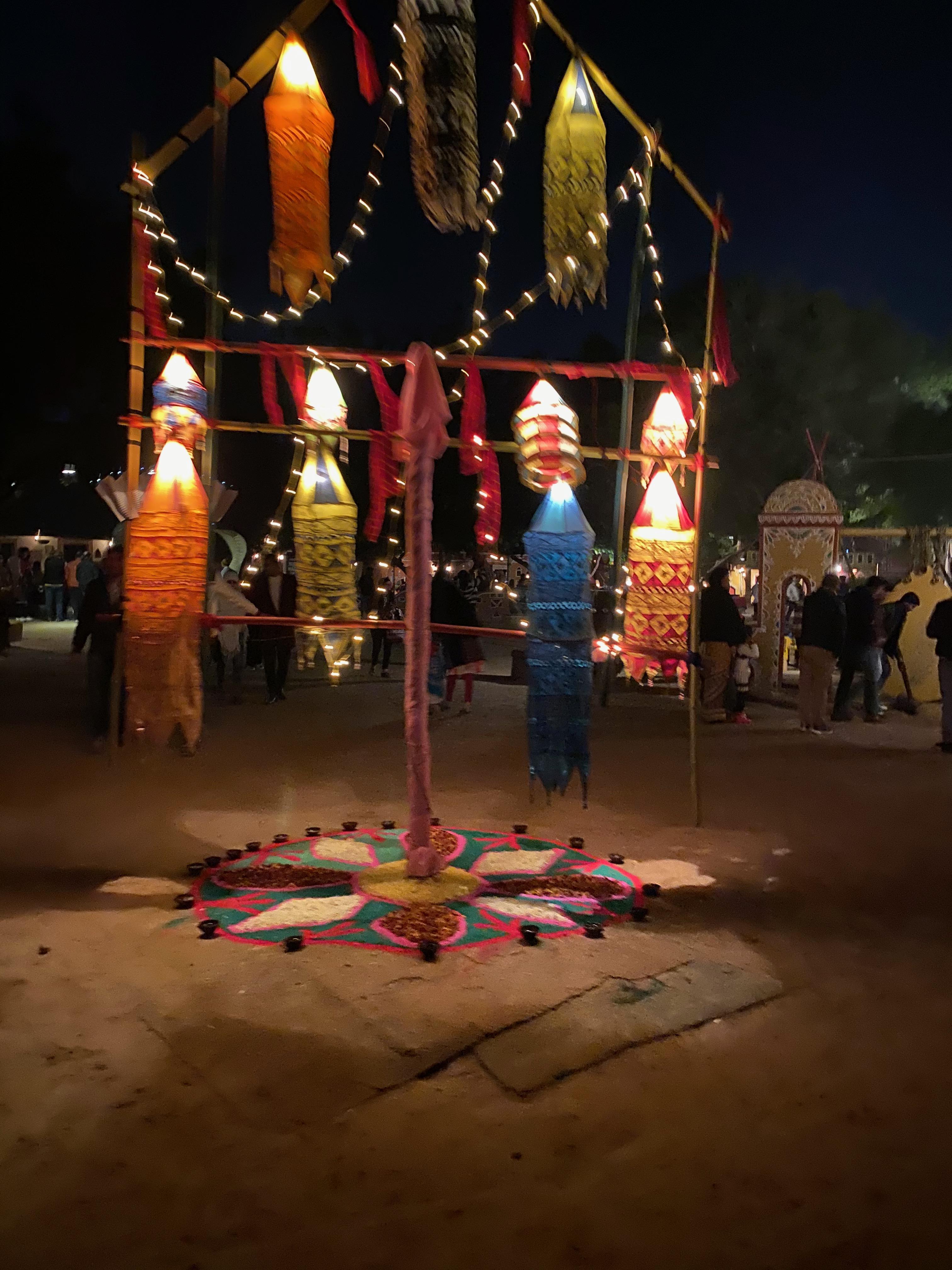 Festive set up at Chokhi Dhani Village