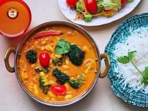 Cannellini Broccoli Vegan Curry Recipe   YourFoodFantasy.com