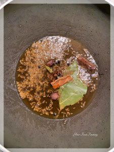 Frying Spices for Navratan Pulao | Your Food Fantasy