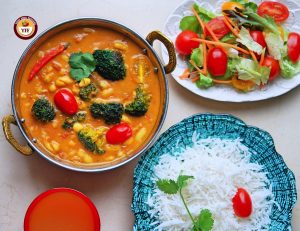 Protein Rich Cannellini Broccoli Vegan curry | Your Food Fantasy