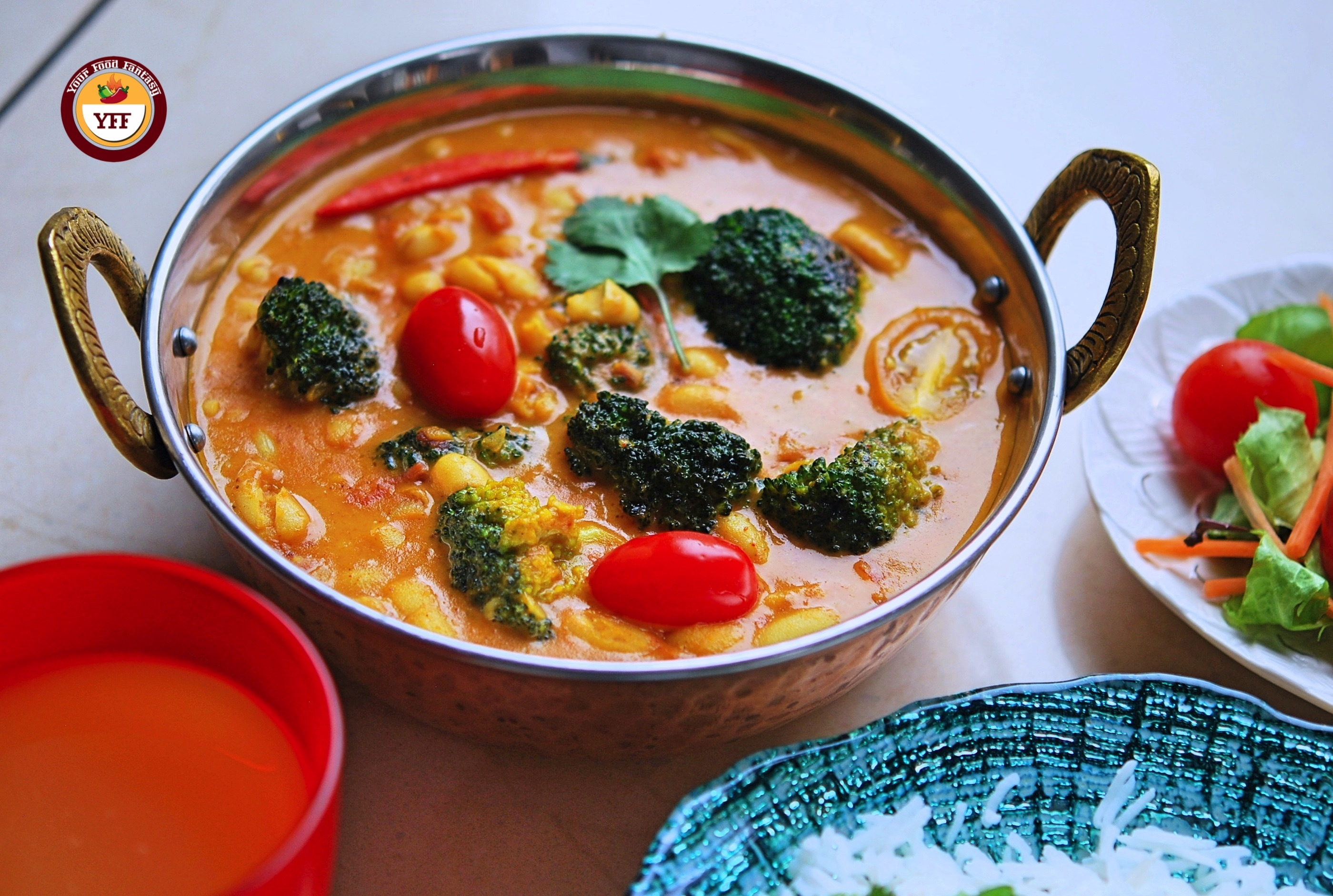 Protein Rich Cannellini Broccoli Vegan curry   YourFoodFantasy.com