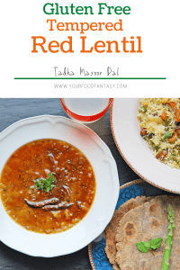 Tempered Red Lentil   How to make Dal
