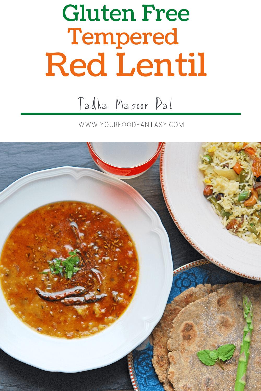 Tempered Red Lentil | How to make Dal