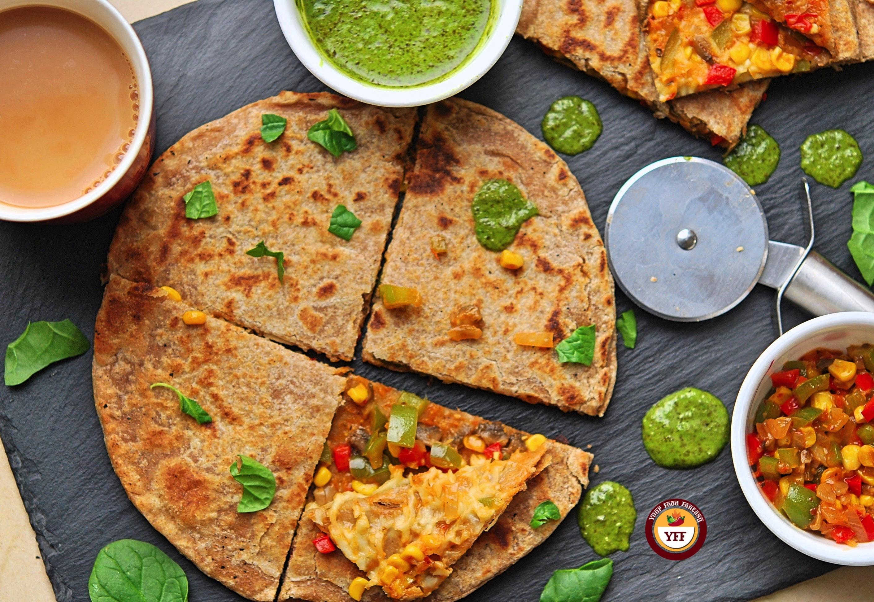Kid Friendly Pizza Paratha Recipe | Your Food Fantasy