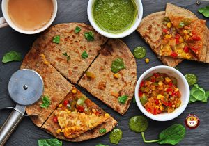 How to make Pizza Paratha   Pizza Paratha Recipe   Your Food Fantasy