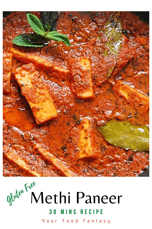 30 Mins Paneer Recipe - Methi Paneer | Your Food Fantasy