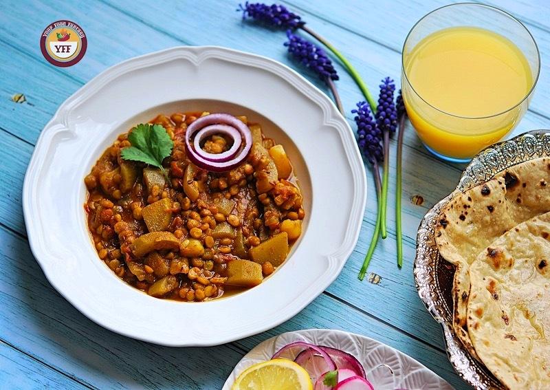 Chana Lauki Dal Curry Recipe   Your Food Fantasy