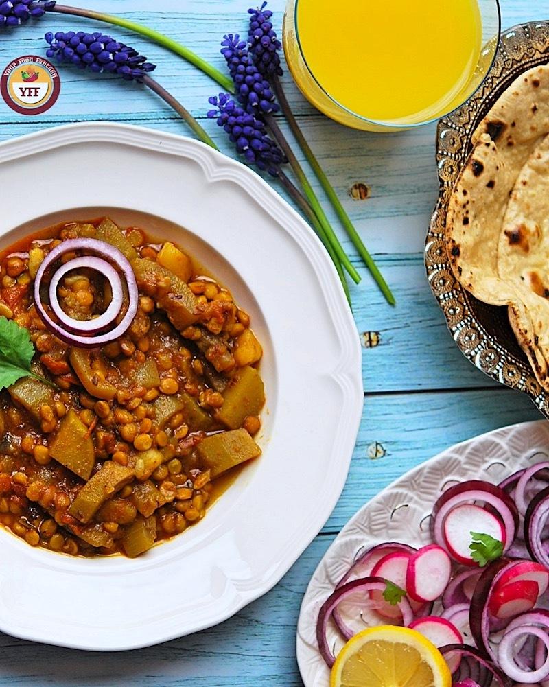 Lauki Chana Dal Ke Sabzi   Your Food Fantasy