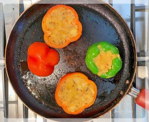 Shallow Frying Stuffed Capsicums on Tawa - Your Food Fantasy