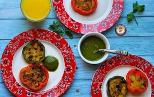 Stuffed bell peppers recipe - Tawa fry style - Your Food Fantasy