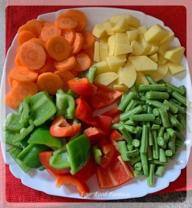 Ingredients for Mixed Veg
