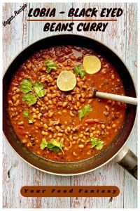 Lobia - Black Eyed Beans Curry
