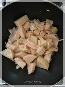 Adding Jackfruit for Jackfruit Pulled Pork Recipe