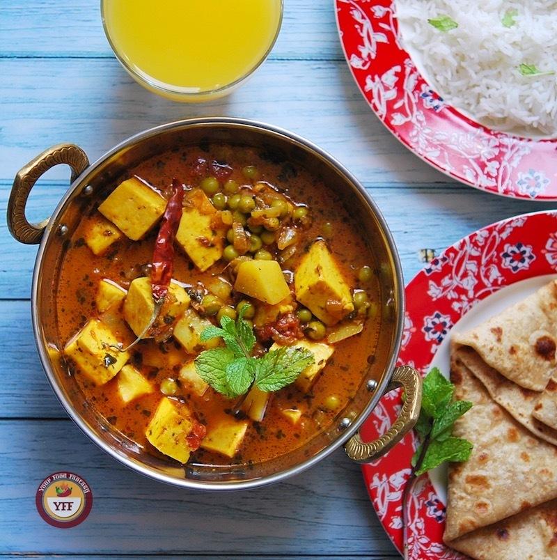 Aloo Matar Paneer Sabzi   Your Food Fantasy