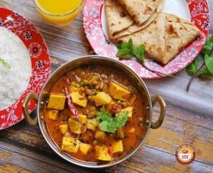 One Pot Aloo Matar Paneer Recipe | Your Food Fantasy
