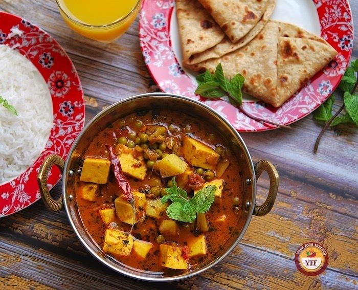 One Pot Aloo Matar Paneer Recipe   Your Food Fantasy