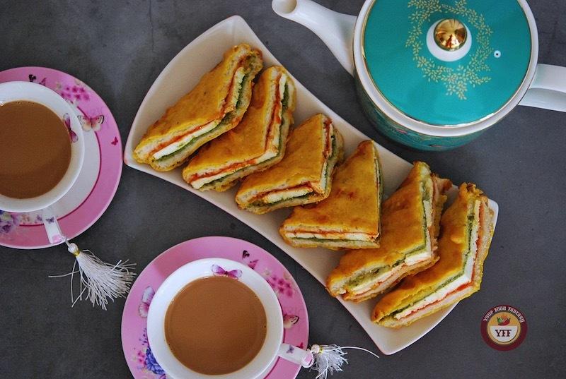 Paneer Sandwich Pakora Recipe | Your Food Fantasy
