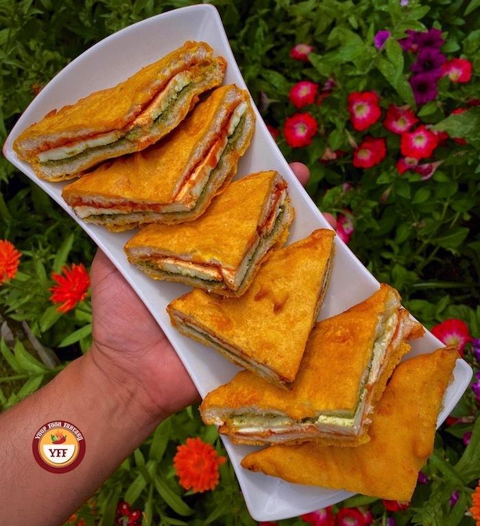 Sandwich Paneer Pakora | Your Food Fantasy