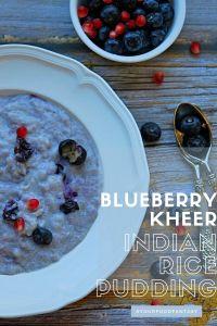 Blueberry Kheer Recipe - Blueberry Phirni
