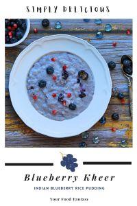 Blueberry Kheer Recipe