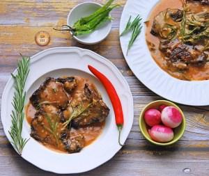 Rosemary Garlic Loin Chops Recipe
