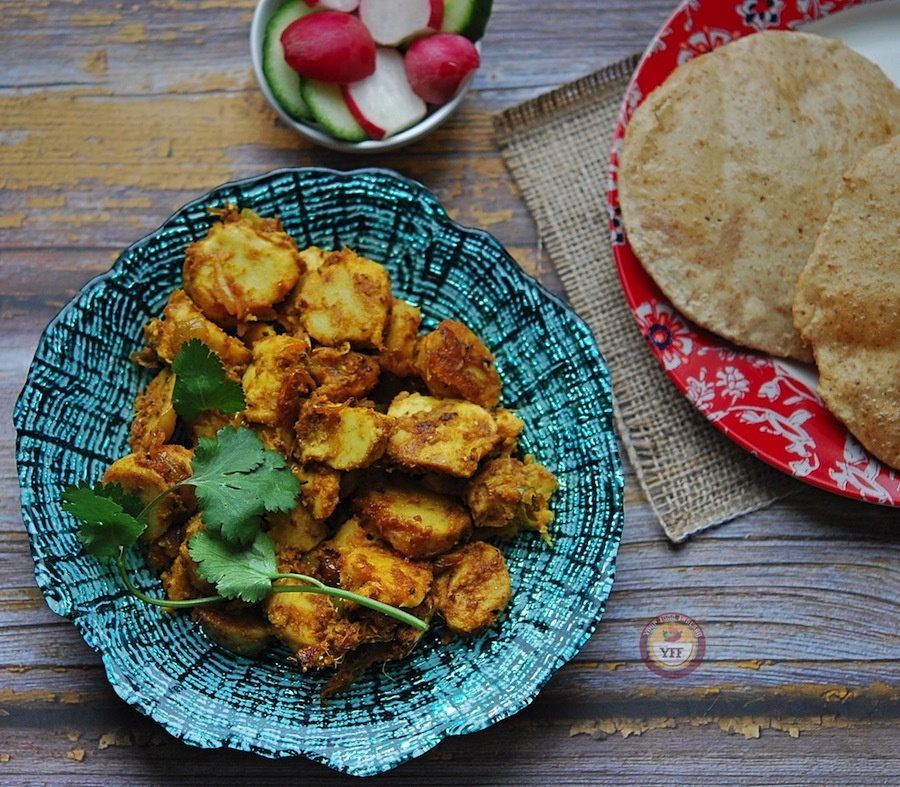 Arbi Masala Recipe - Taro Root Curry