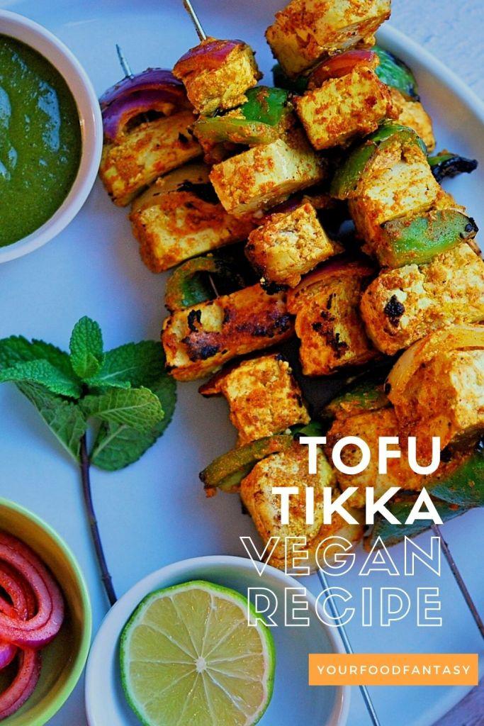 Tofu Tikka on skewers