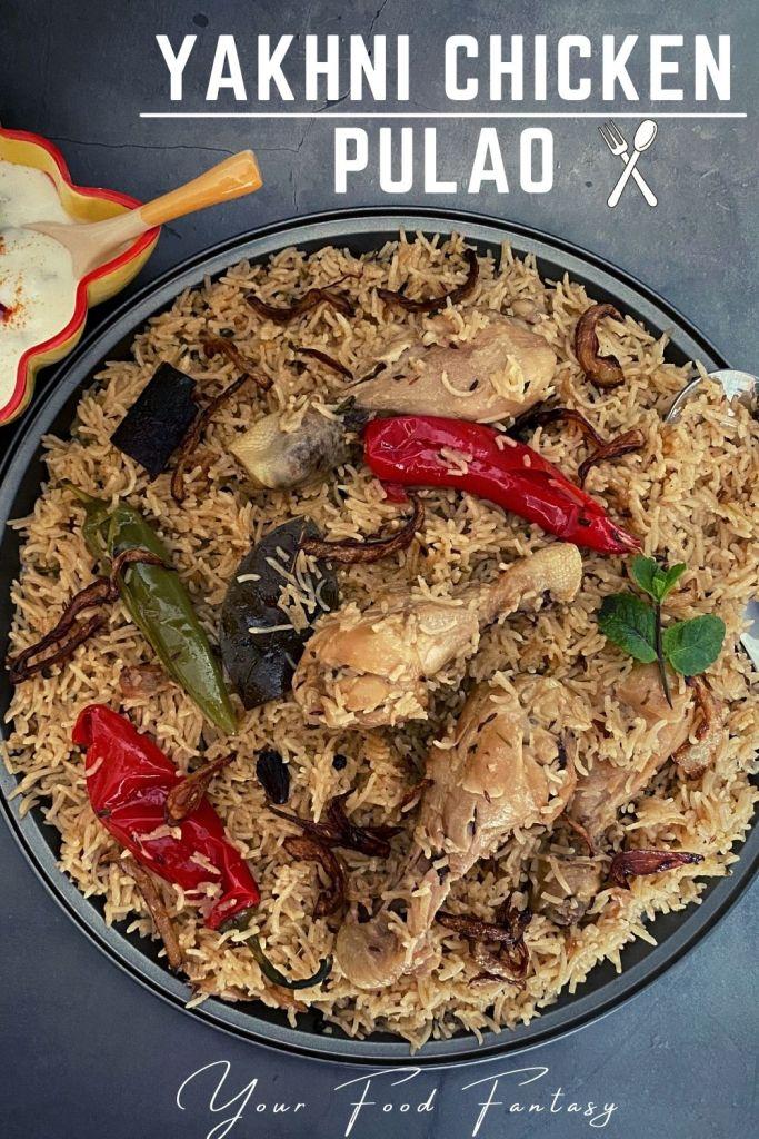Yakhni Chicken Pulao Recipe