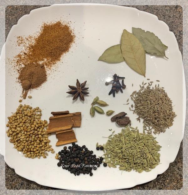 Ingredients for Nihari Masala