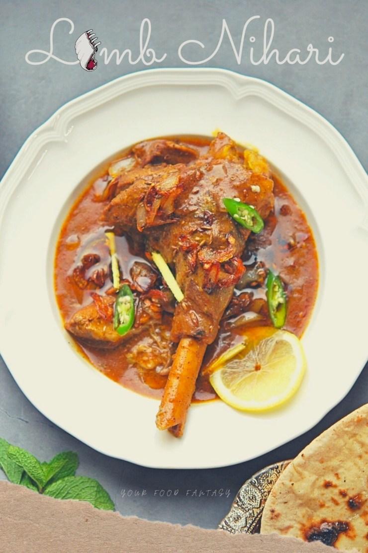 Lamb Nihari - Mutton Nihari - Lamb Shank Curry Recipe | Lamb on the shank