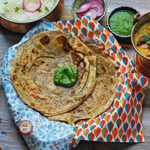 Mint Laccha Paratha - Pudina Paratha