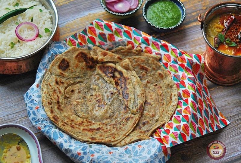 Pudina lachha paratha recipe