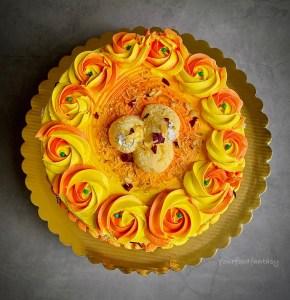 8 Inch Rasmalai Cake Design