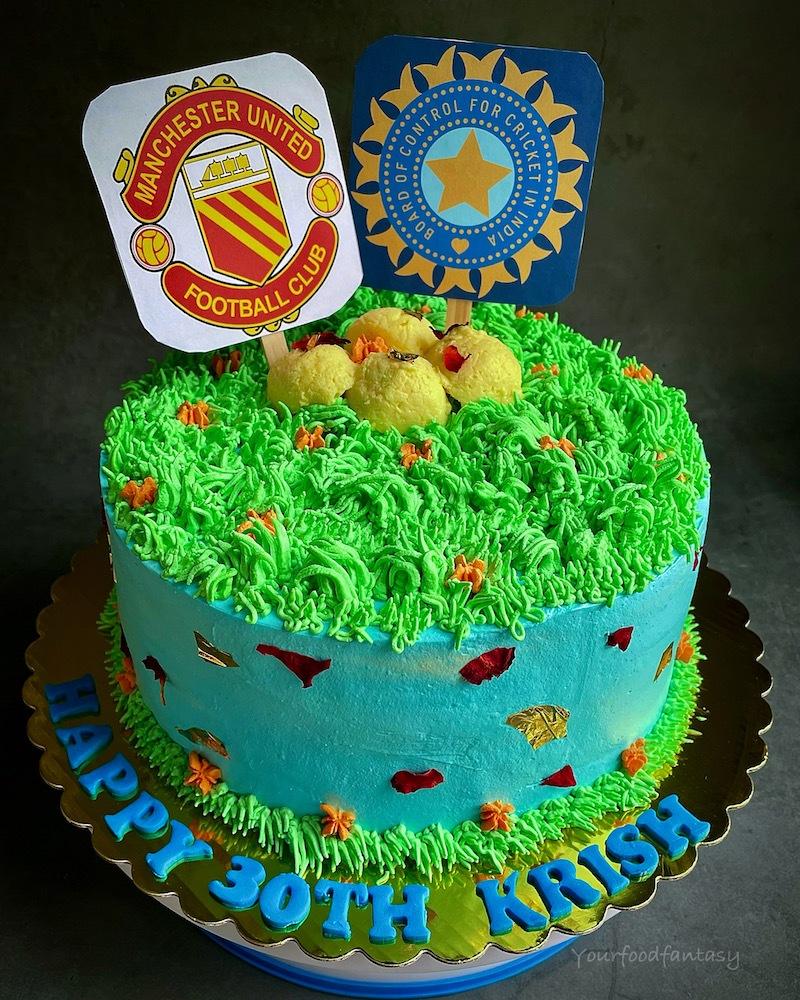 Manchester United and BCCI Theme Rasmalai Cake