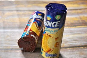 Prince Chocolate and White Chocolate Biscuits