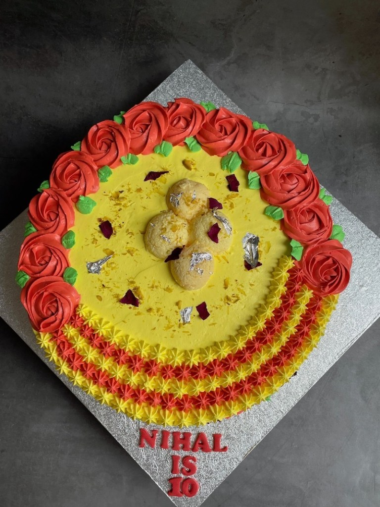 Ras malai Cake Design