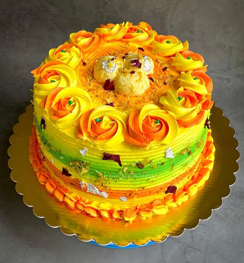 Vibrant Rasmalai Cake Design